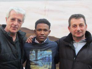 v.l.n.r. Hartmuth Schröder, Ali Omer und Adi Sahin