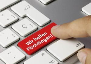 Fotolia Motiv Flüchtlingen helfen Tastatur